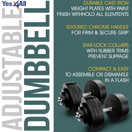 Yes4All Adjustable Dumbbells Features